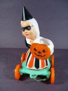RARE 1950's ROSBRO COSTUMED WOMAN JOL WHEELED CANDY CONTAINER | eBay