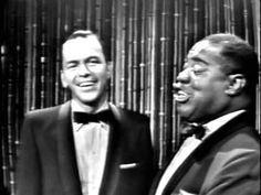 "They just don't make 'em like this, anymore. Sinatra and Louis Armstrong ""Birth of the Blues"" #franksinatra #ratpack #blues"