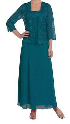 Uryouthstyle Mother of The Bride Dresses Lace Chiffon With Lace Jacket Gowns FU US 2 at Amazon Women's Clothing store: