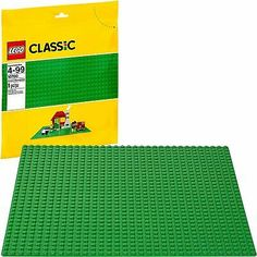 LEGO Road grey base plate with corner 10 inches x 10 inches