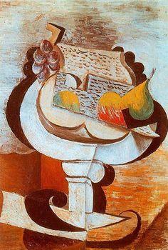 Pablo Picasso - Fruit Dish, 1917