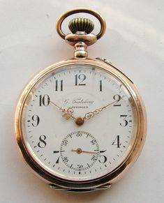 Vintage Watches Collection : G Teuteberg Gottingen silver pocket watch - Watches Topia - Watches: Best Lists, Trends & the Latest Styles Old Pocket Watches, Old Watches, Vintage Watches, Watches For Men, Silver Pocket Watch, Pocket Watch Antique, Old Clocks, Antique Clocks, Dandy