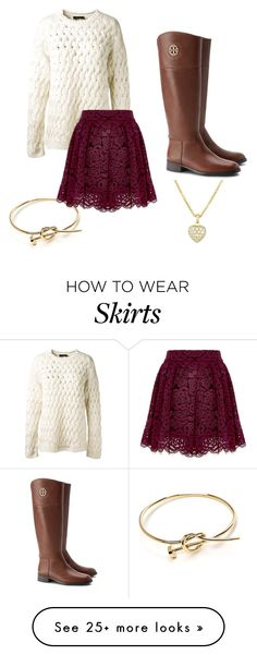 """Skirt and Sweater "" by ndinatale26 on Polyvore featuring The Row, Alice + Olivia and Tory Burch"