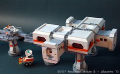 https://flic.kr/p/eSQHDK | S0937 Moonbase Module B (2) | Moonbase module that I made for my LUG space display.
