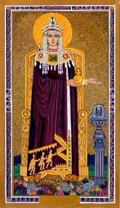 Byzantine Tarot by Cilla Conway - Empress