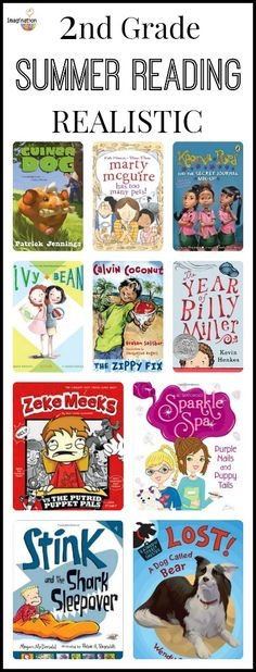2nd Grade Summer Reading List with funny, mystery, and fantasy book recommendations