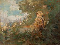 Nicolae Grigorescu-Femeie in gradina