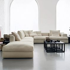 Miloe by Piero Lissoni. Sink into this luxurious sofa and relax. I love it.: