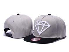 Diamond Supply Co. Rock Snapback Casquettes - gris,noir,blanc