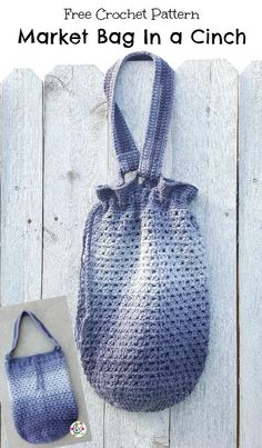 Free Pattern: Market Tote in a Cinch ~ Snappy Tots