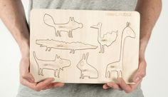Wooden childrens puzzel by Fimbul Design Animal Puzzle, Illustration, Projects, Animals, Inspired, Design, Log Projects, Blue Prints, Animales