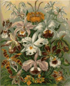 Victorian Orchids Cross Stitch pattern PDF EASY by HeritageChart