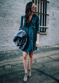flannel shirt dress for fall