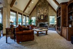 Soaring ceilings, beautiful fireplace