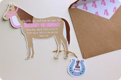 blank horse invitations | Here are the pony party/cowgirl birthday party invitations I made for ...