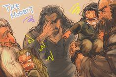 Durin Family: Thorin ~ I died of happiness a little. XD XD XD Fili and Kili are such cute little kids. O Hobbit, Hobbit Hole, Hobbit Art, Aragorn, Legolas, Jrr Tolkien, Fili Et Kili, Sherlock, Bagginshield