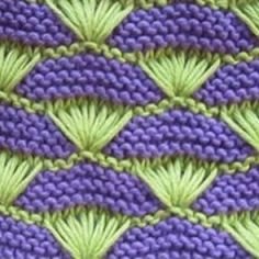 This is a unique stitch that will give your project a wonderful textured look. The knitting pattern Baby Knitting Patterns, Knitting Stitches, Stitch Patterns, Knit Or Crochet, Filet Crochet, Garter Stitch, Knitting For Beginners, Crochet Designs, Tricks
