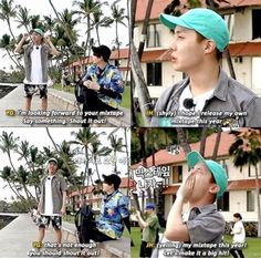 I love it when Yoongi told Hoseok to yell out that his mixtape is going to be lit