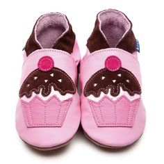 Pink Girls Shoes with Cupcake Motif by Inch Blue  £17