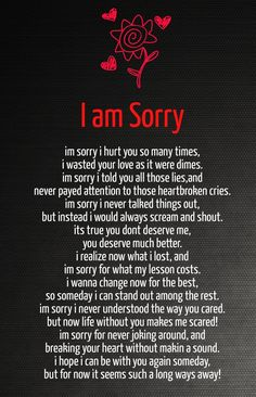 apology text to your girlfriend