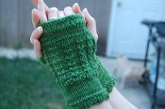 These gloves are knit flat and seamed up the side. They knit up quickly, and really look more complicated than they are! Plus, they're a great way to use up that half skein or less of 100purewool, Malabrigo, handpaintedyarn.com or similar yarn!