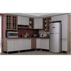 Cozinha Compacta 9 Peças Mery Indekes Nogal/Salina/Nogal