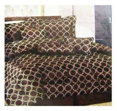 Spring Collection -7pcs Bedding Set - Queen size Bed In A Bag (Café) . $45.00