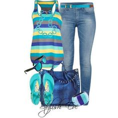 Summer flow turquoise outfits, summer wear, spring summer fashion, spring o Fashion Moda, Cute Fashion, Look Fashion, Womens Fashion, Komplette Outfits, Spring Outfits, Casual Outfits, Fashion Outfits, Simple Outfits