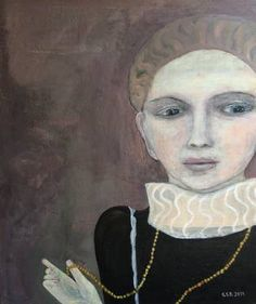 "Saatchi Art Artist siri skogstad berntsen; Painting, ""The impossible girl"" #art"