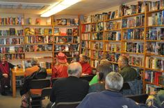 """At the reading from """"Border Ghosts"""" during Artwalk 2014 (Front Street Books)"""
