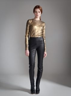 Alice by Temperley-Classic Harmony Leather Trousers