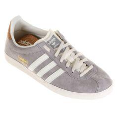 Tênis Adidas Gazelle Og Cinza e Branco   Netshoes