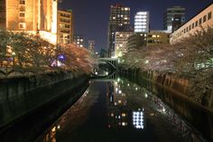 Meguro River Tokyo Japan