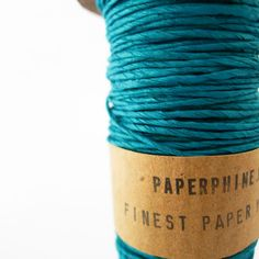 This uniquely one of the kind Paper Twine is made in Viena, Austria by PaperPhine, a passionate team of designers who combines old and new materials and inspiration