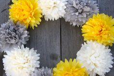 10 Mini Tissue Paper Pom Pom Garland / DIY Pom Garland / Dessert Table Decor / Wedding Aisle Runners / Weddings