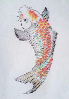 Koi carp Colour study by yoso tattoo (www.yoso.eu), via Flickr
