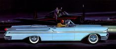 Plan59 :: Classic Car Art :: Vintage Ads :: 1958 Mercury Montclair Convertible