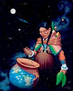 Para las mujeres bribrís el planeta es mujer puesto que es la Madre Tierra, la cual deben de proteger.