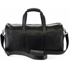 Urban Safari - Black Vantage Weekender (11,525 THB) ❤ liked on Polyvore featuring men's fashion, men's bags, mens leather overnight bag, mens carry on bags, men's weekend travel bag, mens leather travel bag and mens leather weekender bag