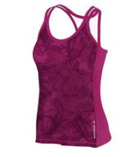 Brooks Women's Glycerin Print Support Tank II:   Energize your running wardrobe with a sleek, smartly designed running tank in a sweet, modern print. Strategically placed lift in the cups adds shaping and modesty, while offering a better fit for A cups and more comfortable support for Bs and Cs. This piece coordinates perfectly with other pieces -- you'll want to show this off. (10/12)