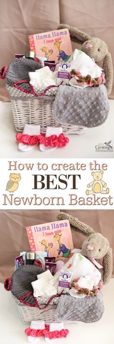 DIY the Best Newborn Gift Basket Don't give the same old boring gifts after a new baby arrives! Learn how to make the best newborn gift basket and the best items that stand out and help the new mom! via Busy Creating Memories Diy Baby Gifts, Baby Girl Gifts, Newborn Gifts, Baby Newborn, Unique Baby Gifts, Best Baby Gifts, Best Baby Shower Gifts, Baby Crafts, Baby Shower Gift Basket