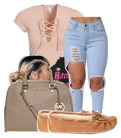 """""""Untitled #604"""" by sipping-gold ❤ liked on Polyvore featuring NLY Trend, MICHAEL Michael Kors and Forever 21"""