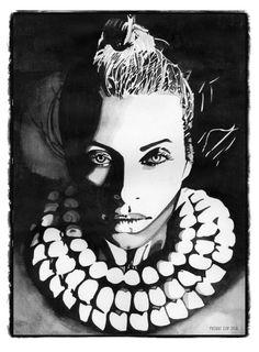 Shellwoman, watercolor, 20 x 30 cm Design, Graphic Design Studios, Watercolor, Painting, Art