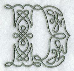 Celtic Knotwork Letter D - 3 Inch $1.00
