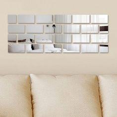 Espelho decorativo Tijolinhos - 90 cm x 34 cm - Interlaser Shop Hall Mirrors, Mirror Art, Mirror Ideas, Bar Interior, Some Ideas, Decoration, Home Improvement, Wall Decor, Shelves