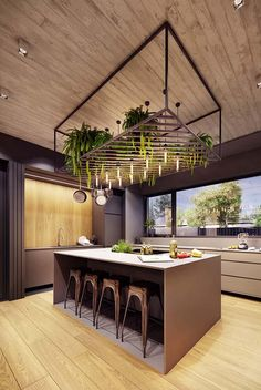 Remodel your kitchen with cool lights. Check out best Kitchen Lighting ideas for your home. These are the best Kitchen lighting design tips, tricks & DIYs. Kitchen Lighting Design, Modern Kitchen Design, Interior Design Living Room, Best Kitchen Lighting, Kitchen Contemporary, Kitchen Island Lighting, Kitchen Pendant Lighting, Diy Interior, Interior Architecture
