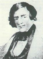 Jedediah Smith (1799-1831), explorer, trail-blazer and one of the greatest of the mountain men.  Killed on the Santa Fe Trail by Comanches.