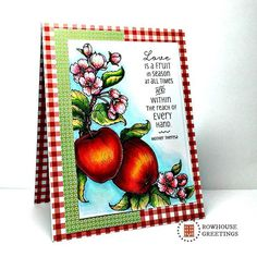 Fall Greeting Card Autumn Greeting Card by RowhouseGreetings