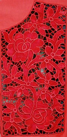 Advanced Embroidery Designs. Free Projects and Ideas. Applique-Cutwork Yoke machine embroidery design