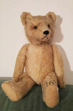 "Antique Vintage Steiff? Teddy Bear 45 cm 17.7"" White Mohair, w Growler, Humpback  | eBay"